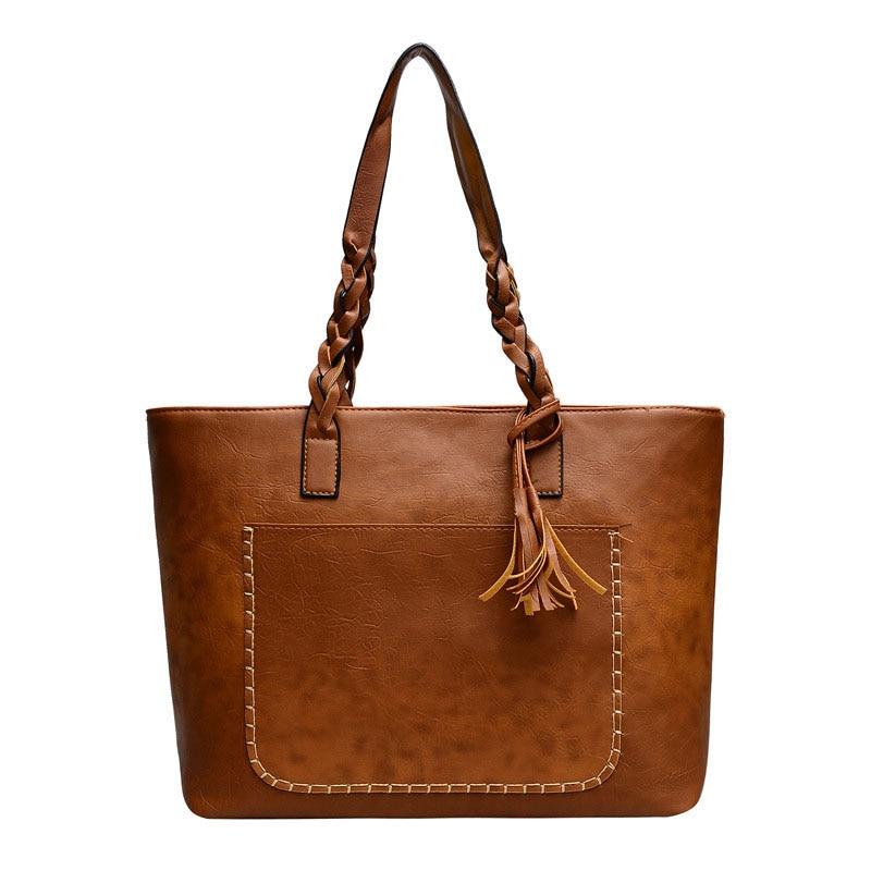 Women's Handbag Women Shoulder Bag Women Retro Tote Handbag Ladies New Fashion Tassel Bag Female Large Capacity Handbags