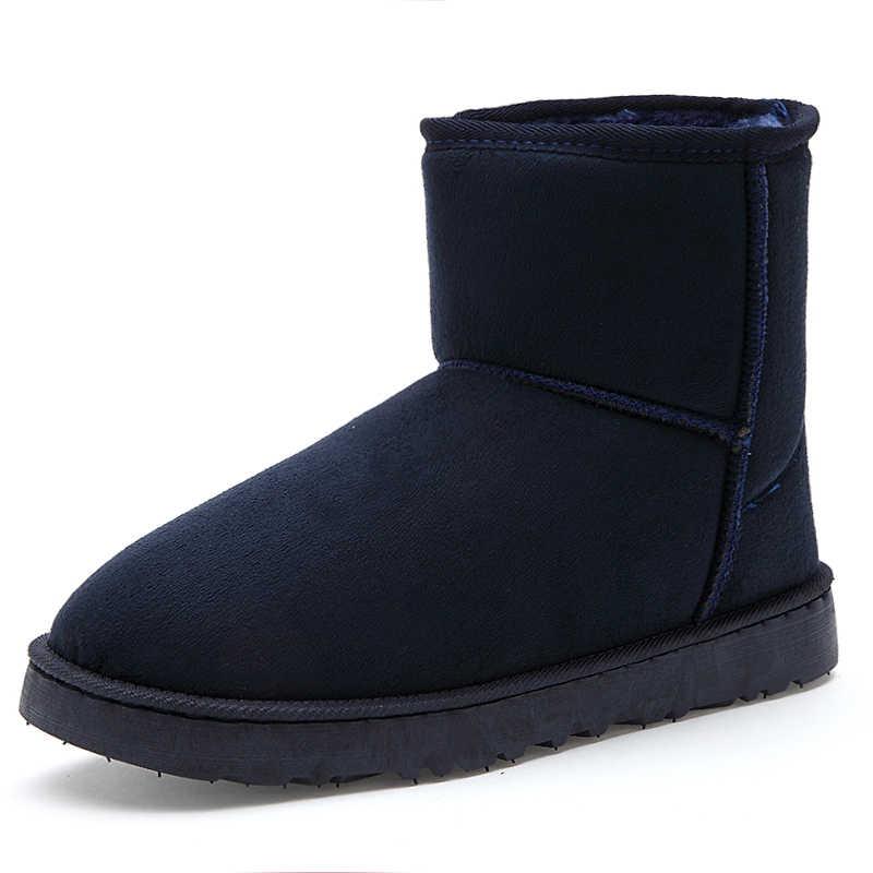 Süper Sıcak Kar Botları Erkekler Lüks Marka Moda Çift Unisex Erkekler Için Kış Çizmeler rahat ayakkabılar yarım çizmeler Severler Bot PUTILER