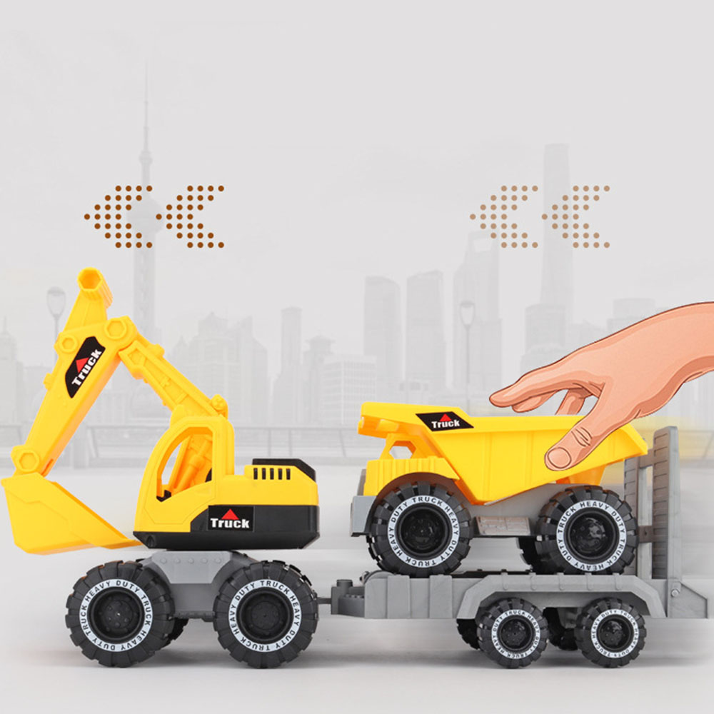 New Year Baby Simulation Engineering Car Toy Excavator Model Tractor Toy Dump Truck Model Car Toy Mini Gift For Boy
