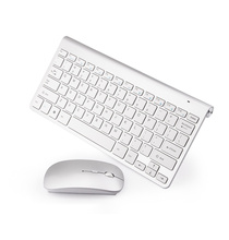 Slim Russian Wireless Keyboard and Mouse Set with Multi-function Button Ergonomic US Keyboard Mouse Combo Silent Mouse PC Mice