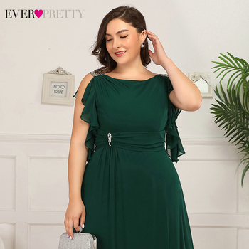 Plus Size Mother Of The Bride Dresses Ever Pretty EP07891 A-Line Ruffles Beaded O-Neck Farsali Wedding Guest Dresses Marraine 5