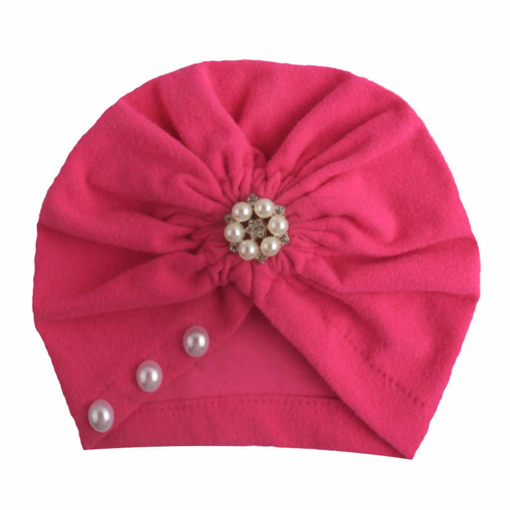 Nowonarodzone dziecko chłopiec dziewczyna Dla Dzieci kapelusz stałe Bowknot Cap maluch Turban noworodka fotografia rekwizyty Шапка Детская Czapki Dla Dzieci