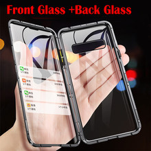 Metal Magnetic Case For Samsung Galaxy S20 S10 Plus S20 Ultra Note 10 Plus A81 A71 Double Sided Tempered Glass For Samsung S20