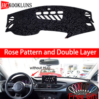 Rose Pattern For AUDI A7 S7 2009 2010 2011 2018 Dashboard Cover Car Stickers Car Decoration Car Accessories Interior Car Decals