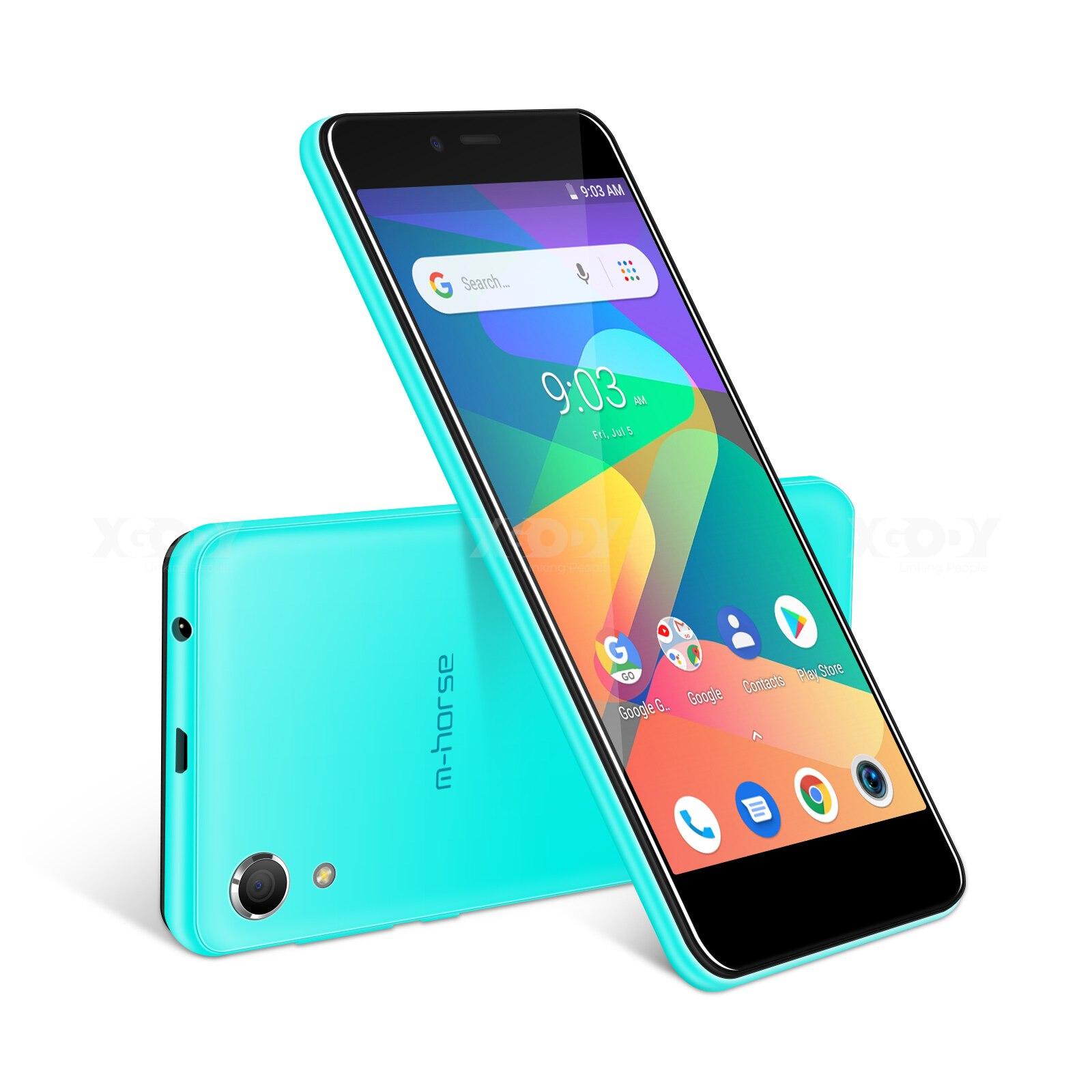 M HORSE Mobile Phone MTK6580 Quad Core Android 8.1 1GB RAM 8GB ROM 3G WCDMA 8.0MP 2000mAh Dual SIM Smartphone 5 Inch Celular