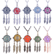 Collier en forme de cage pour femmes enceintes, style multicolore, bijoux d'aromathérapie, diffuseur d'huile essentielle, médaillon Vintage