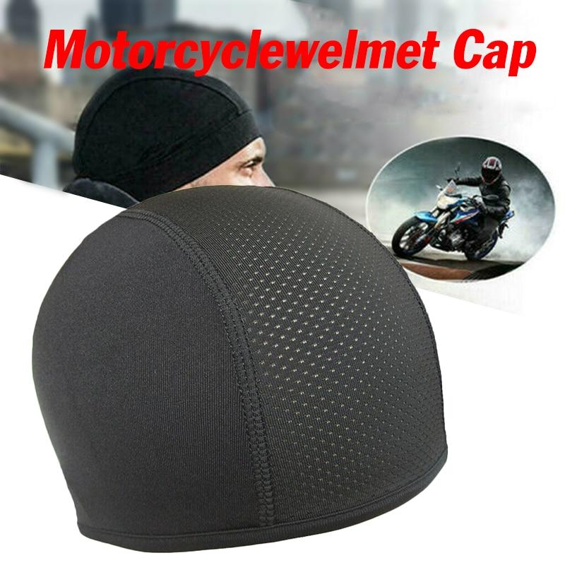 Motorcycle Helmets Inner Cap Cool Max Hat Quick Dry Breathable Hat Racing Cap Under Helmet Beanie Cap For Bike Riding Bicycle