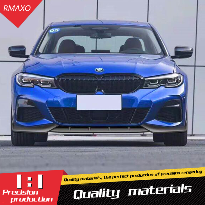 Para G20 G28 Body kit spoiler 2020-2021 Para BMW 320li 320i M3 3 ABS Rear lip spoiler traseiro amortecedor dianteiro Difusor Bumpers Protector