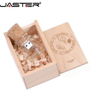 Image 3 - Jaster Glas Drift Fles Met Kurk Usb 2.0 Flash Drive (Transparant) pendrive 4G 8G 16Gb 32Gb 64Gb Fashion Huidige Fles Gift