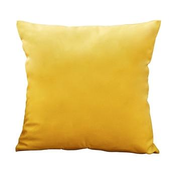 Housse de coussin jaune moutarde 50x50 cm - 4 tailles disponibles
