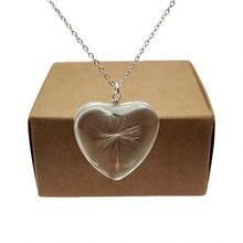 Одуванчик make a wish настоящий цветок большое сердце Любовь