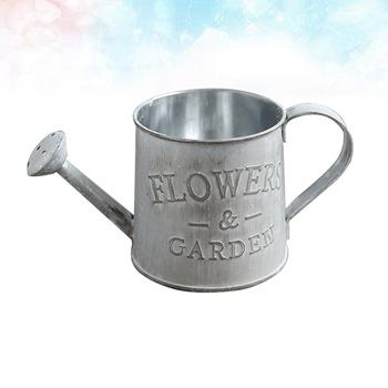 Kreatywny wazon na kwiaty może styl rustykalny żelazny metalowy dzbanek dzbanek cyny wiadro konewka kształt przenośny garnek do domu wesele D tanie i dobre opinie CN (pochodzenie) Iron metal jug mental jug shabby pitcher home ornament rustic style jug
