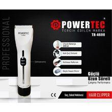 Powertec TR-4600 rasoir professionnel 2000mA corps cheveux rasoir puissant moteur silencieux utilisation sans fil