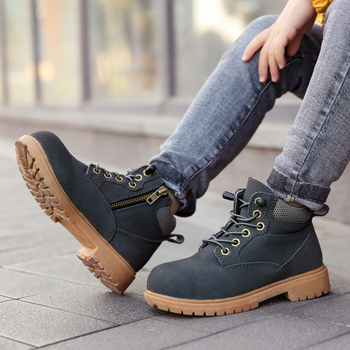 Spring New High-top Martin Boots Men and Women Sports Lightweight Children's Shoes Campus Shoes Board Shoes image