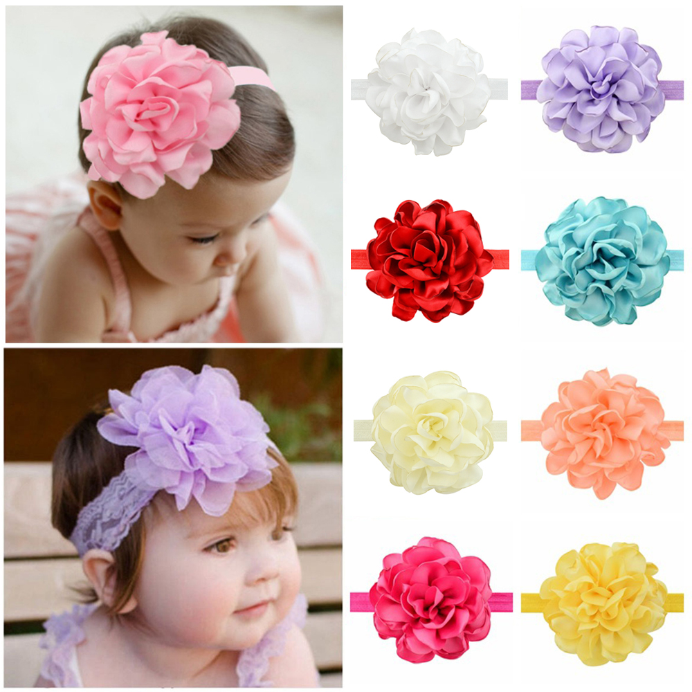 Baby Girl Peony Flower Headband Hair Accessories FREE FAST SHIPPING FROM USA