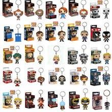 Funko KeyChain Hero Academy Dr. Mystery Clown Radiation Boy Ninja Saw Freddy Venom Doll Vinyl Action Figure PVC Model Gift Toys