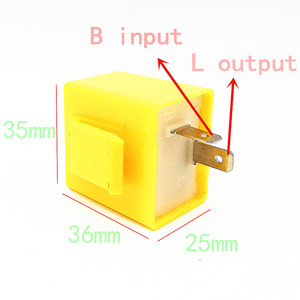 Image 4 - العلامة التجارية الجديدة 12 فولت 2 دبوس قابل للتعديل تردد LED مرحل ومضي بدوره إشارة الوامض المؤشر لملحقات دراجة نارية