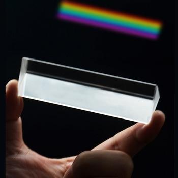 Triple Dreiecks Prisma Regenbogen Optische Glas Physik Lehre Wissenschaft Explorer Refraktor Licht Spektrum 10x3cm Mit Geschenk Box