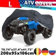 L Black 190T Motorcycle Waterproof Cover Rain Dust Sun UV Protector case Quad Bikes ATV Protector Case For Polaris 200x95x106cm