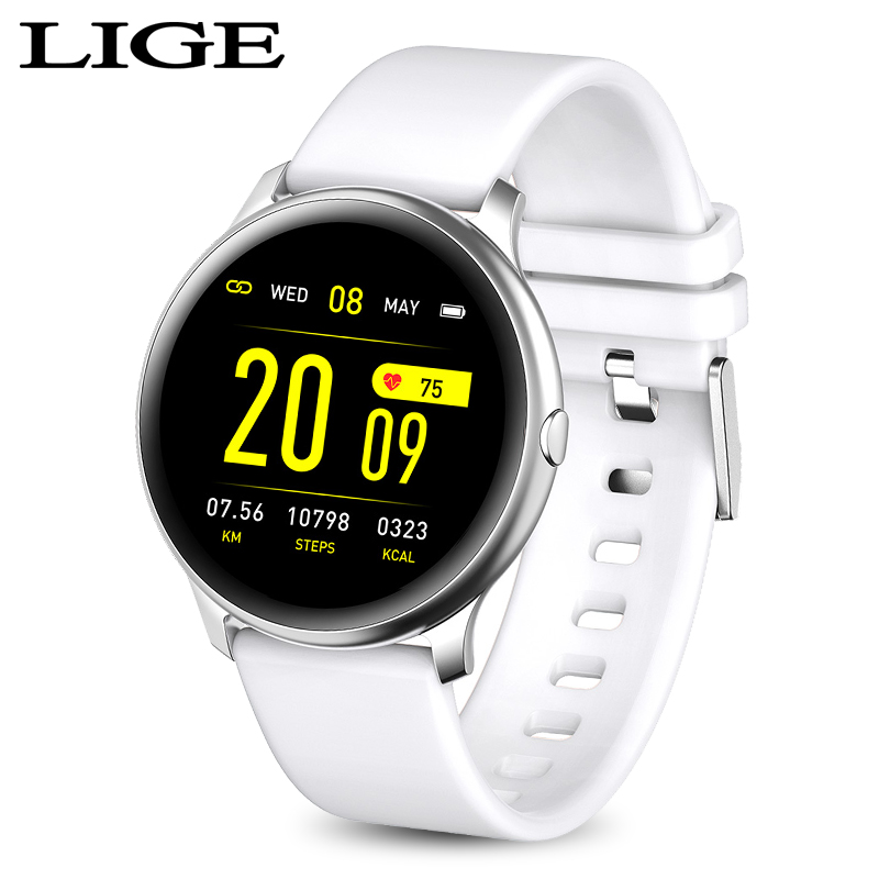 LIGE fashion men women Fitness bracelet waterproof smartwatch Heart rate blood pressure function Activity tracking smart band