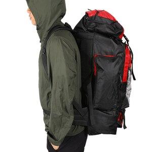 Image 5 - 100L büyük kapasiteli açık spor sırt çantası su geçirmez seyahat çantası yürüyüş tırmanma balıkçılık kamp çanta erkekler ve kadınlar için