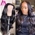 Объемная волна, парик с кружевом спереди, бразильский для черных женщин, 30 дюймов, 13х4 человеческие волосы, свободная волна, кружевные передн...