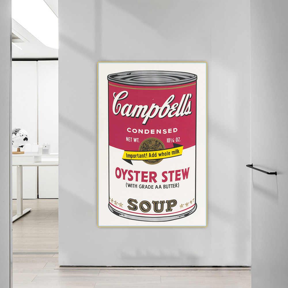 Pintura famosa Andy Warhol sopa cl/ásica pared arte lienzo cuadros pared cuadros para sala decoraci/ón-60x90 cm sin marco