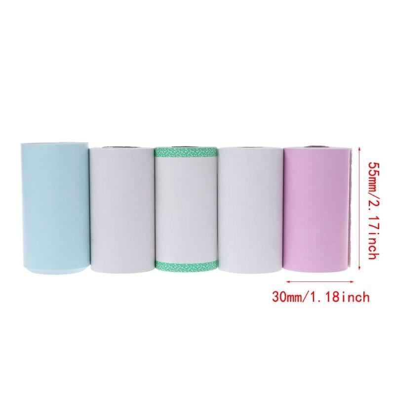Купить с кэшбэком Photo Paper Mini Printable Sticker Roll Thermal Printers Clear Printing Smudge-Proof Portable