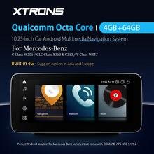 XTRONS 10.25 ''Android 10.0 voiture multimédia GPS système Qualcomm Snapdragon Bluetooth 5.0 pour MERCEDES BENZ W205 X253 C253 W447
