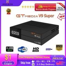 GTmedia Satellite Receiver V9 Super DVB S2 H.265 FREESAT V8 NOVA V8X Digital TV Receiver HD 1080P HD Built in WIFI TV BOX