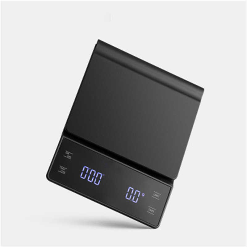 Kaffee Skala mit Timer Kaffee Topf Elektronische Waage Smart Hand Drip Skala 3KG/0,1g Präzision Küche Waagen mit Silikon Pad