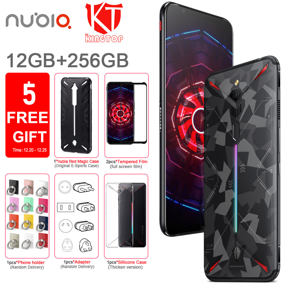 "Global ROM Original ZTE nubia Red Magic 3 Mobile phone 12G 256G 6.65"" Snapdragon 855 Octa core 48MP 16MP 5000mAh Game Phone"