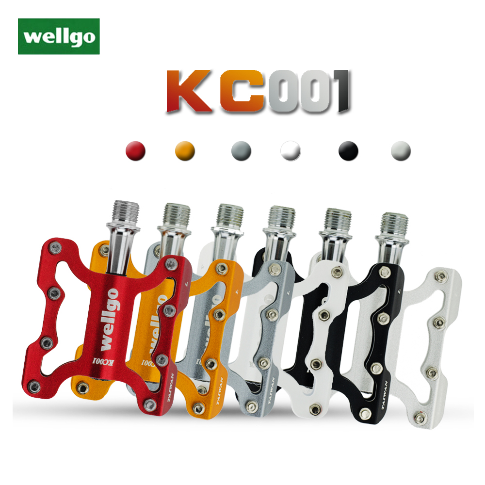 WELLGO KC001 Alu MTB Bike Road city Bicycle Pedal sealed Bearing Platform Pedals
