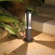 2pcs Solar Lawn Lamp Outdoor Garden Warm White LED Outdoor Cylinder Lawn Lamp Waterproof Courtyard Lights 2019