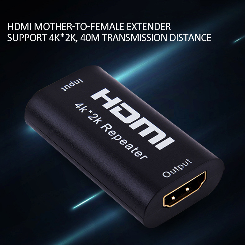 Newest 3D HDMI 1080P 4K*2K HDMI Repeater Adapter Signal Amplifier Booster 10.2 Gbps Over Signal HDTV HDMI Mini 40M Extender