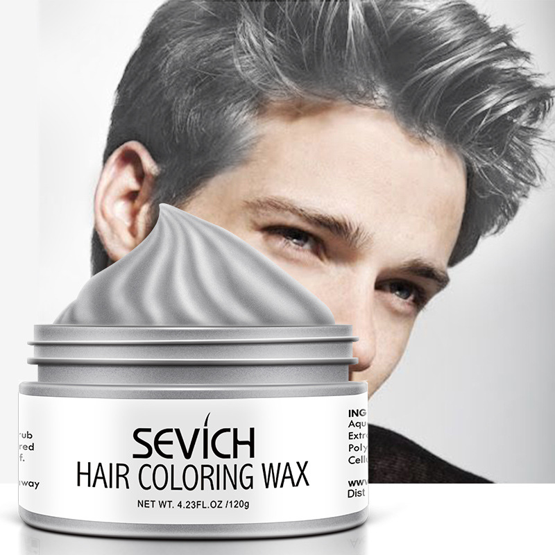 Sevich 120g Disposable Hair Color Wax DIY Hair Modeling Dying Cream Fashion Grandma Grey One-time Hair Coloring Paint Mud TSLM1(China)