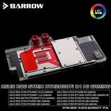 BARROW Water Block use for ASUS ROG STRIX-RTX2080TI-O11G/RTX2080-O8G/RTX2080 Super O8G GAMING/RGB 5V 3PIN / Compatible Backplate цена в Москве и Питере