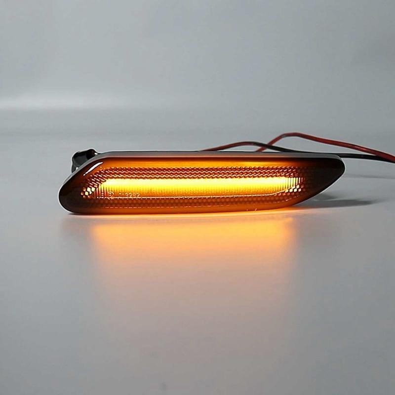 WOVELOT 6 LED Side Marker Light Indicator Lamp Strip Truck Trailer Lorry 12V Orange