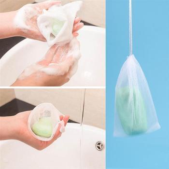 10pcs Soap Saver Pouch Bubble Foam Net Handmade Soap net Mesh Bag Exfoliating Mesh Body Facial Cleaning Bath Shower Tool