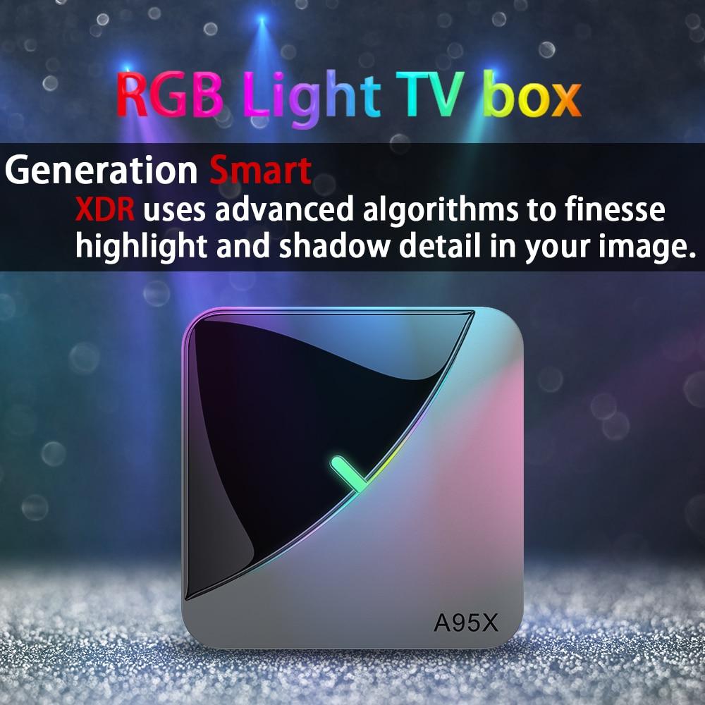 Transpeed A95X F3 Air 8K Android 9.0 TV BOX Amlogic S905X3 4K Youtube Netflix wifi 4GB 16GB 32GB 64GB RGB Light TV Box