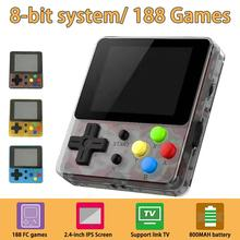 8-Bit System Handheld Game Console, Portable Video Game 2.4 Inch HD Screen 188 Classic Games,Retro Game Console Can Play on TV 2018 portable video handheld game console retro 64 bit 3 inch 3000 video game retro handheld console to tv rs 97 retro gane 07