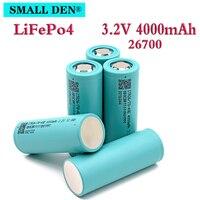 3.2V4000mAh 26700 LiFePO4 batería 3C descarga continua máxima 5C de potencia de batería de coche eléctrico scooter de almacenamiento de energía Solar
