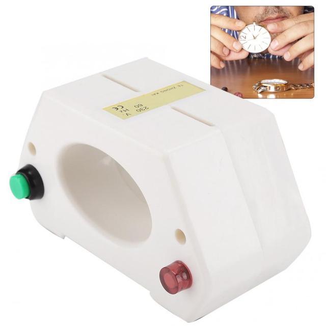 Montre mécanique à démagnétisation outil de réparation, montre bracelet outil professionnel de démagnétisation et ajustement du temps pour montre outil de réparation