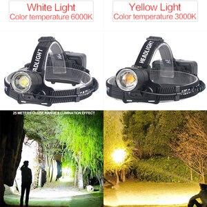 Image 2 - Phare puissant XHP70.2 LED phare USB Rechargeable lampe frontale Zoom étanche phare de blanc jaune éclairage par 18650