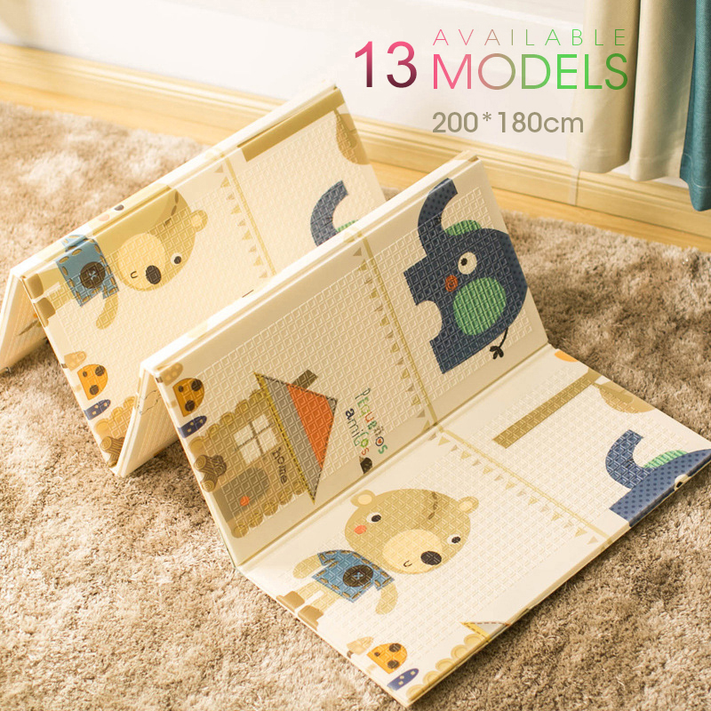 Foldable Cartoon Play Mat Kid Rug Puzzle Infant Carpet Waterproof Early Education Gym Baby XPE Crawling Pad Rug Developing Mat