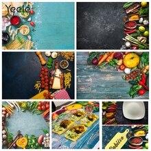 Yeele 음식을위한 photophone 어두운 시멘트 벽 야채 과일 주방 사진 배경 사진 배경 사진 스튜디오