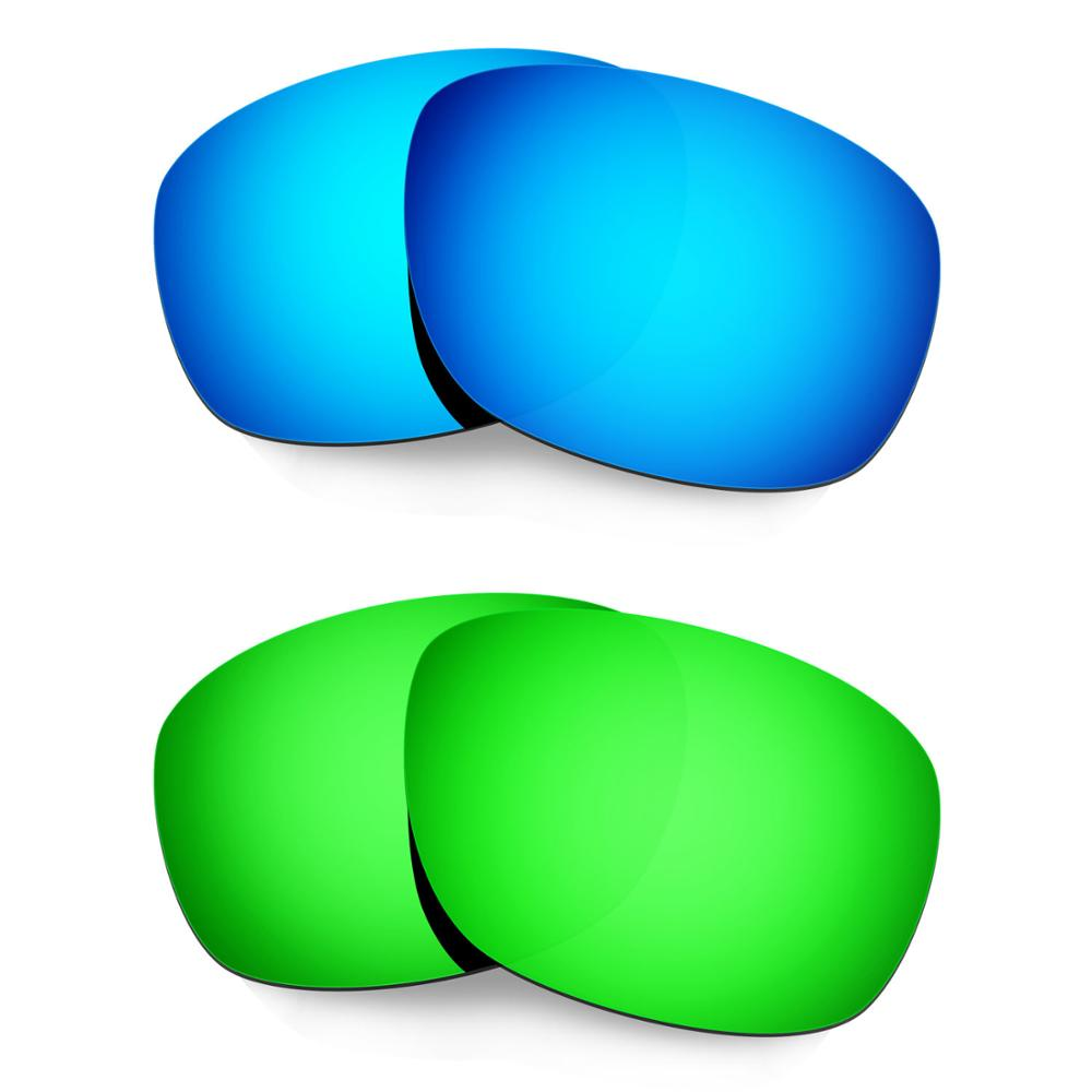 HKUCO For Ten-X Sunglasses Polarized Replacement Lenses 2 Pairs Blue & Green