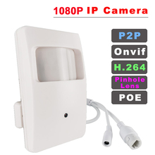 Caméra de surveillance IP filaire ou POE 48V, capteur PIR, codec H.264 Onvif 1080P, pinholeLens