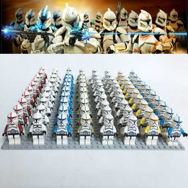 Hot star Wars Militare Figures Building Blocks Stormtroopers Neve Troopers Compatibile Legoinglys Figure Giocattoli per il Regalo Di Natale