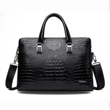 Promotions  New Come Men's PU Leather Crocodile pattern Business Handbag Briefcase Messenger Shoulder Bag Handbags Wholesale european and american fashion crocodile pattern new handbag patent leather bright pu shoulder portable messenger bag 2018 new